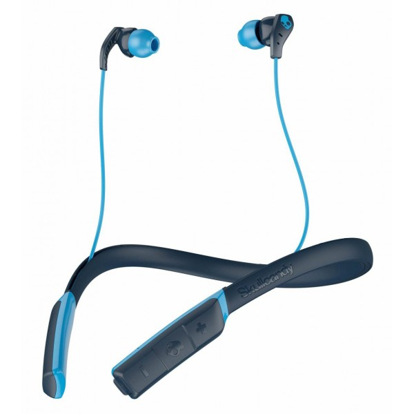 Skullcandy - Method BT Sport - Navy / Blu - Auricolari Bluetooth Sport Wireless con Microfono - Resistenti all'Acqua