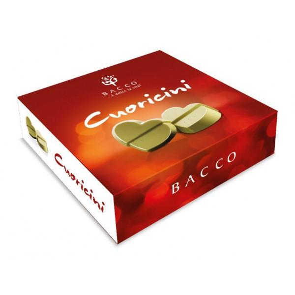 Bacco - Tipicità al Pistacchio - Cuoricini - Praline di Cioccolato al Pistacchio - Sicilia - Cioccolatini Artigianali - 55 g