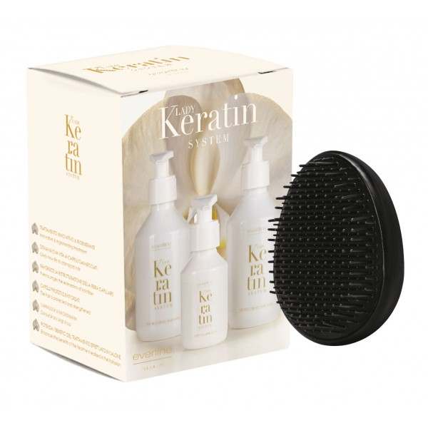 Everline - Hair Solution - Lady Keratin System Kit - Lady Keratin - Ristrutturante alla Cheratina - Trattamenti Professionali