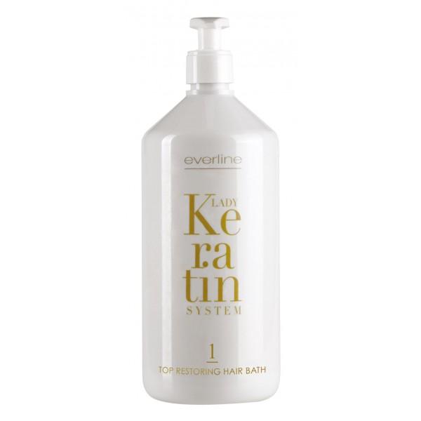 Everline - Hair Solution - Top Restoring Hair Bath - Step 1 - Lady Keratin - Keratin Restructuring - Professional Treatments