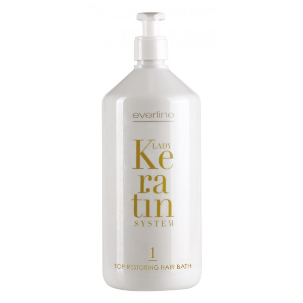 Everline - Hair Solution - Top Restoring Hair Bath - Step 1 - Lady Keratin - Ristrutturante alla Cheratina - Professional