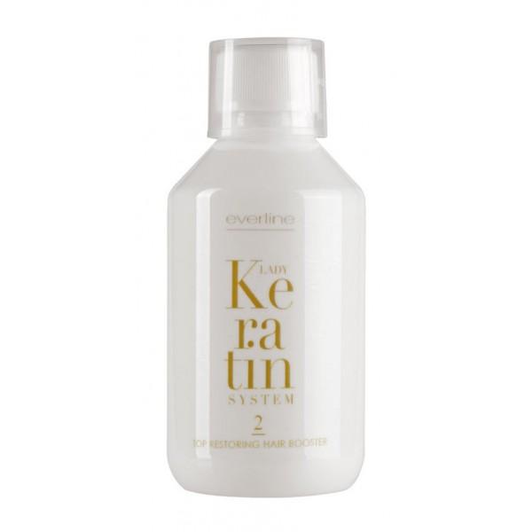 Everline - Hair Solution - Top Restoring Hair Booster - Step 2 - Lady Keratin - Ristrutturante alla Cheratina - Professional