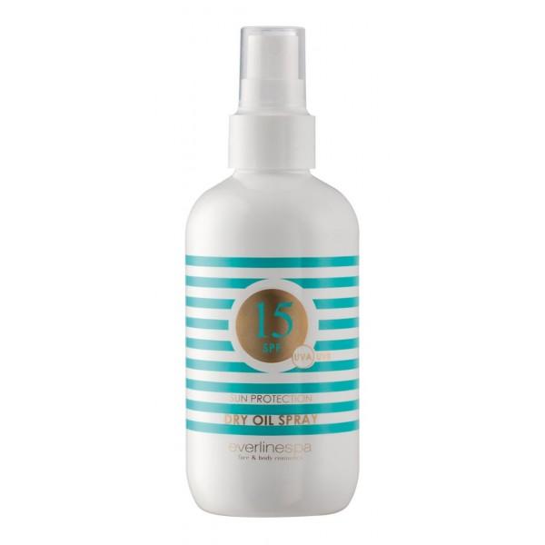 Everline Spa - Perfect Skin - Dry Oil Spray 15 SPF - Olio Solare Spray 15 SPF - Sun Protection - Cosmetici Professionali