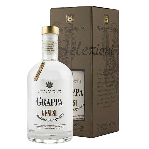 Zanin 1895 - Monte Sabotino - Young Genesis Grappa - Grand Selection - 40 % vol. - Spirit of Excellence