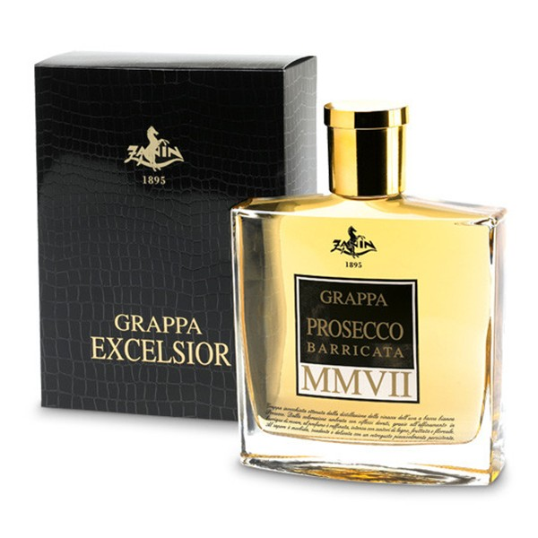 Zanin 1895 - MMVII - Grappa of Prosecco Excelsior Barricata - 40 % vol. - Distillates - Spirit of Excellence