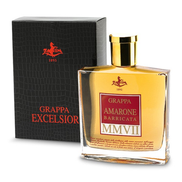 Zanin 1895 - MMVII - Grappa of Amarone Excelsior Barricata - 40 % vol. - Distillates - Spirit of Excellence