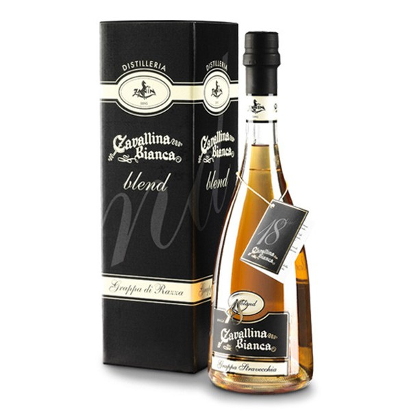 Zanin 1895 - Cavallina Bianca - Grappa Blend 18 - Grappa Riserva - Magnum - 41.5 % vol. - Distillati - Spirit of Excellence