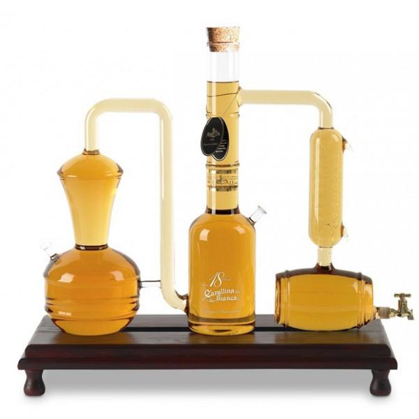 Zanin 1895 - Cavallina Bianca - Distilleria Grappa Invecchiata Blend 18 - 5 Litri - Grappa Riserva - 41.5 % vol. - Distillati