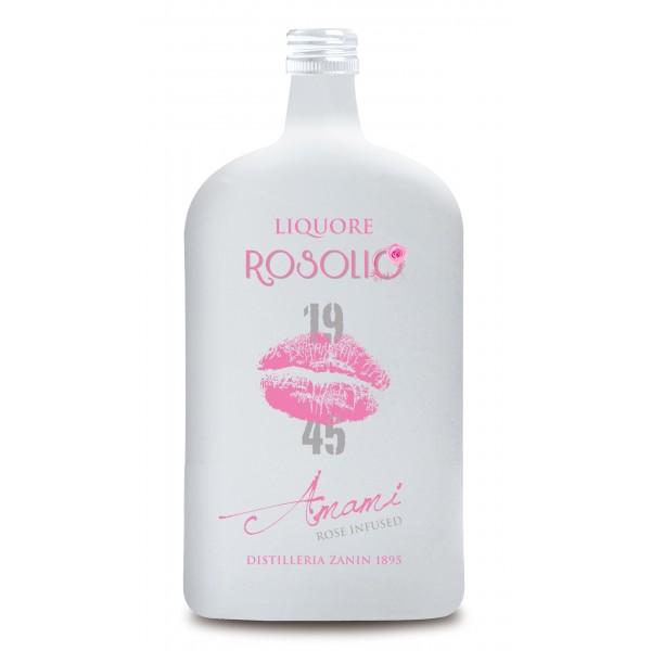 Zanin 1895 - Amarcord - Liquore Rosolio - Amami - 19 - 45 - 25 % vol. - Liquore con Infuso alla Rosa