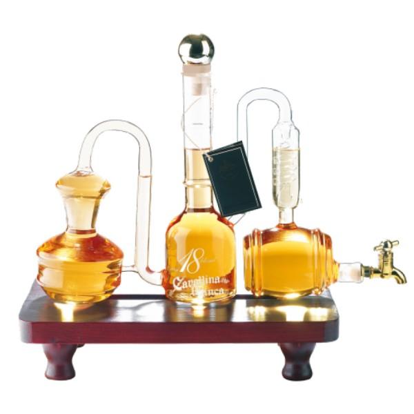 Zanin 1895 - Cavallina Bianca - Aged Grappa Blend 18 Distillery - 0,7 Liters - Reserve Grappa - 41,5 % vol. - Distillates