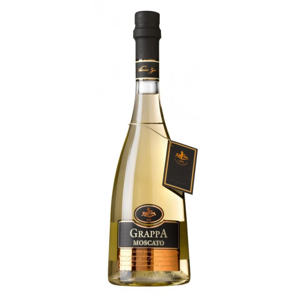 Zanin 1895 - Doppia Distillazione - Grappa di Moscato Barricata - Made in Italy - 40 % vol. - Spirit of Excellence