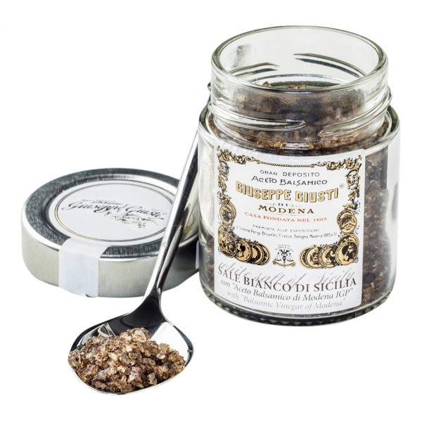 Acetaia Giuseppe Giusti - Modena 1605 - White Sicilian Salt with Balsamic Vinegar of Modena I.G.P.