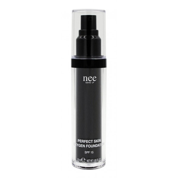 Nee Make Up - Milano - Perfect Skin Oxygen Foundation SPF 15 - Fondotinta Liquidi - Viso - Make Up Professionale