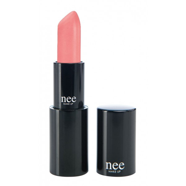 Nee Make Up - Milano - Lipstick Hydrating Satinato-Cremoso Salmon Pink 121 - Cream Lipstick - Lips - Professional Make Up