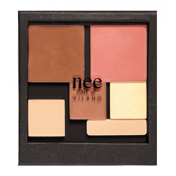 Nee Make Up - Milano - Contouring Palette - Face - Eyes - Palette - Professional Make Up