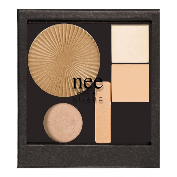 Nee Make Up - Milano - Strobing Palette - Face - Eyes - Palette - Professional Make Up