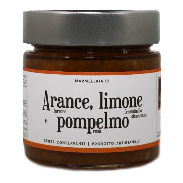 Alessio Brusadin - Marmellata di Arance Tarocco, Limone e Pompelmo Rosa - Marmellate di Agrumi - Composte Dolci Artigianali