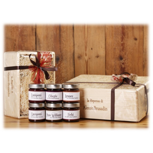 Alessio Brusadin - Elegant Gift Box Chocolate Jam 6 Jars - Gift Boxes - Artisan Compotes and Creams