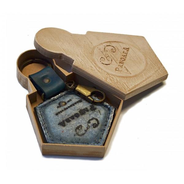 PangaeA - PangaeA Keychain - Suspenders PangaeA Y - Artisan Leather Keychain