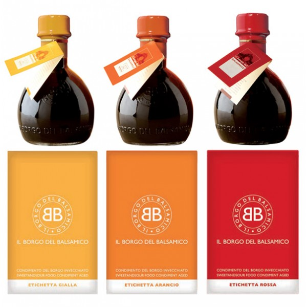 Il Borgo del Balsamico - The Condiment of The Borgo - The Big Tris in Single Packages - Balsamic Vinegar of The Borgo