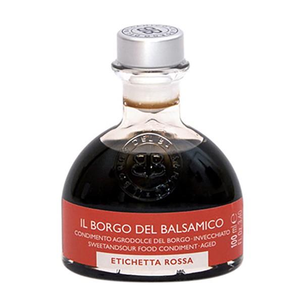 Il Borgo del Balsamico - Il Condimento del Borgo - Etichetta Rossa - Aceto Balsamico del Borgo - 100 ml