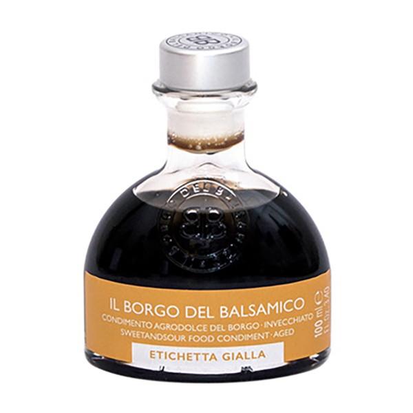 Il Borgo del Balsamico - Il Condimento del Borgo - Etichetta Gialla - Aceto Balsamico del Borgo - 100 ml