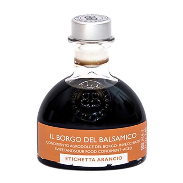 Il Borgo del Balsamico - Il Condimento del Borgo - Etichetta Arancio - Aceto Balsamico del Borgo - 100 ml