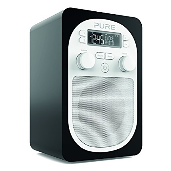 Pure - Evoke D1 - Black - Compact, Portable DAB Digital Radio with FM - High Quality Digital Radio