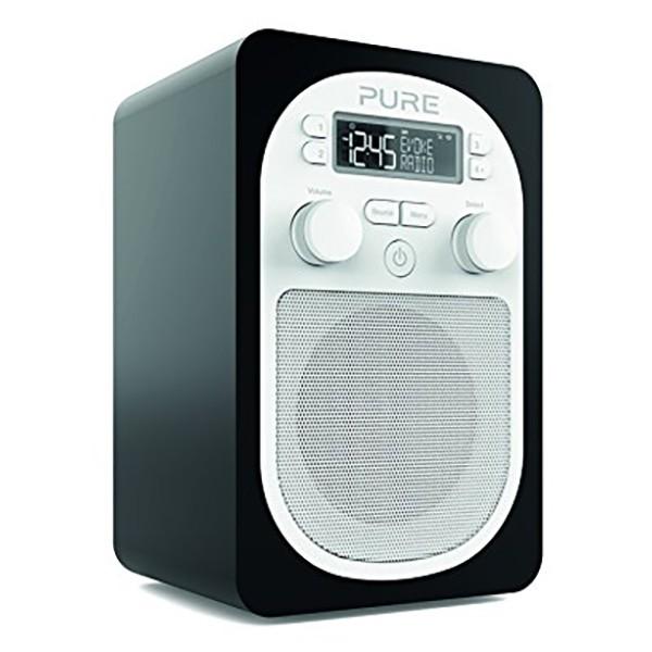 Pure - Evoke D1 - Nera - Radio Digitale DAB Compatta e Portatile con FM - Radio Digitale di Alta Qualità