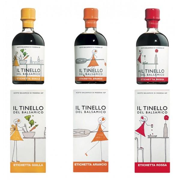 Il Borgo del Balsamico - Balsamic Vinegar of Modena I.G.P. of Dinette - The Three Labels - Balsamic Vinegar of The Borgo