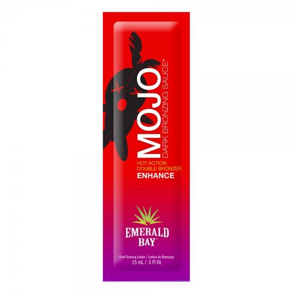 California Tan - Mojo Dark Bronzing Sauce® - Hot Action Double Bronzer - Emerald Bay - Lozione Abbronzante Professionale - 15 ml