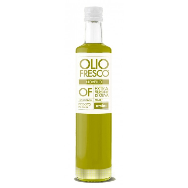 Ursini - Fresh Pressed Oil - Mid-Fruity Flavour - Blend of Cultivar - Organic Italian Extra Virgin Olive Oil - 500 ml