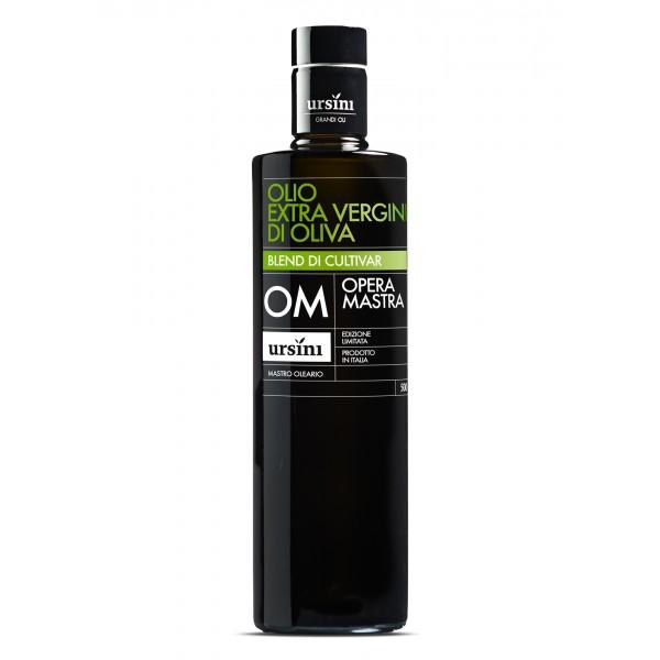 Ursini - Opera Mastra - Fruttato Medio - Blend di Cultivar - Olio Extravergine di Oliva Italiano - 500 ml