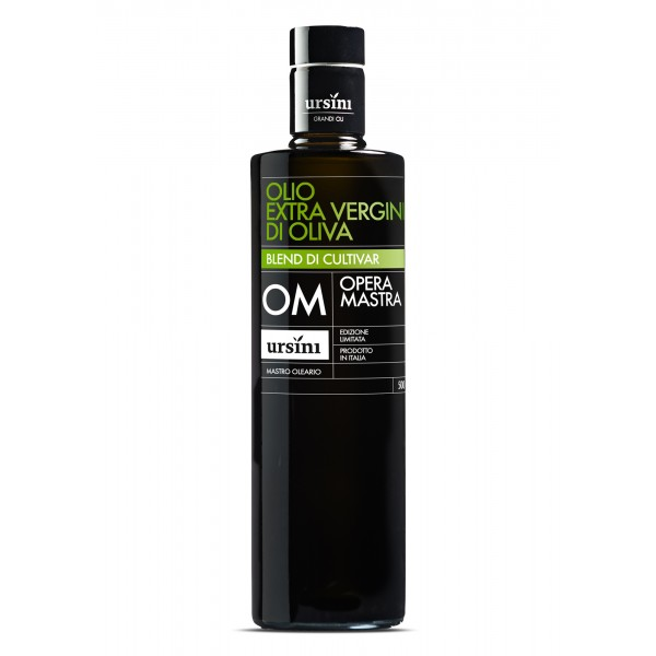 Ursini - Opera Mastra - Mid-Fruity Flavour - Blend of Cultivar - Organic Italian Extra Virgin Olive Oil - 500 ml