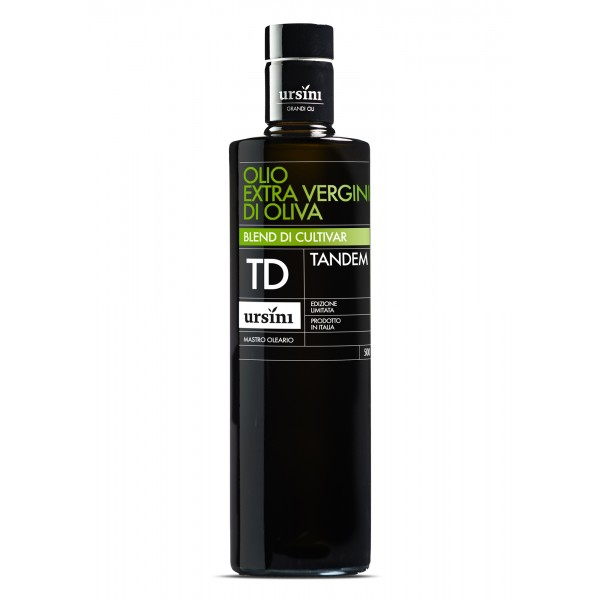 Ursini - Tandem - Intense-Fruity Flavour - Blend of Cultivar - Organic Italian Extra Virgin Olive Oil - 500 ml