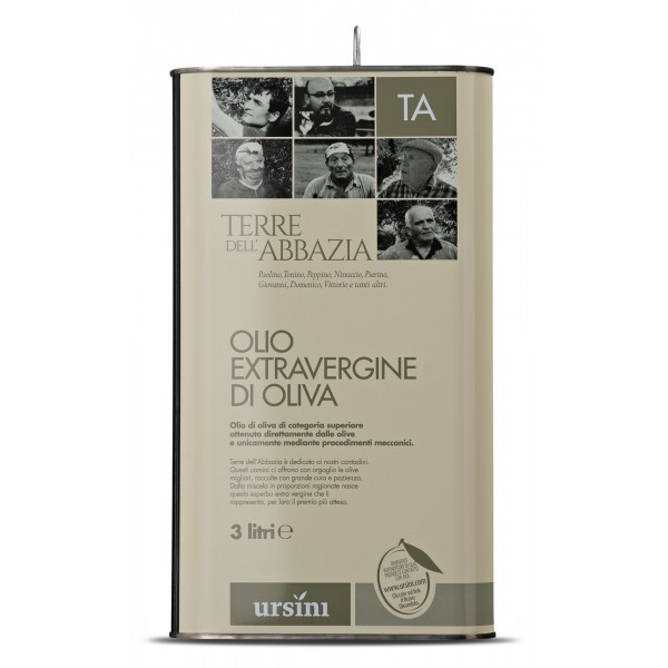Ursini - Terre dell'Abbazzia - Light-Fruity Flavour - Blend of Cultivar - Organic Italian Extra Virgin Olive Oil - 5 l