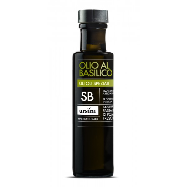 Ursini - Basil Olive Oil - Spiced Oils - Organic Italian Extra Virgin Olive Oil - 100 ml