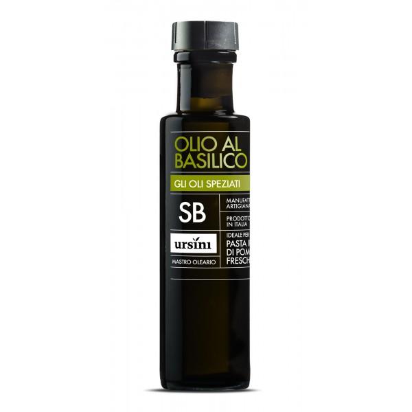 Ursini - Olio al Basilico - Oli Speziati - Olio Extravergine di Oliva Italiano - 100 ml