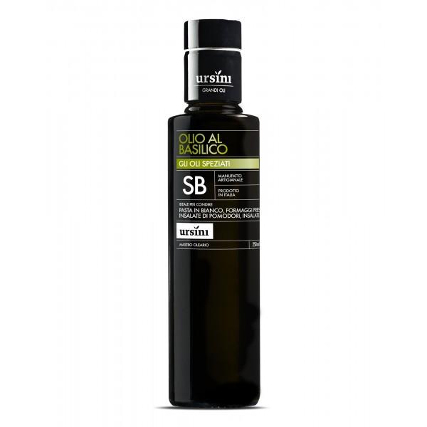 Ursini - Olio al Basilico - Oli Speziati - Olio Extravergine di Oliva Italiano - 250 ml