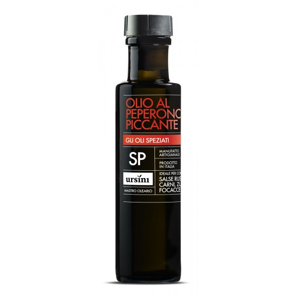 Ursini - Hot Pepper Olive Oil - Spiced Oils - Organic Italian Extra Virgin Olive Oil - 100 ml