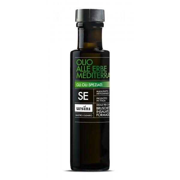 Ursini - Olio alle Erbe Mediterranee - Oli Speziati - Olio Extravergine di Oliva Italiano - 100 ml