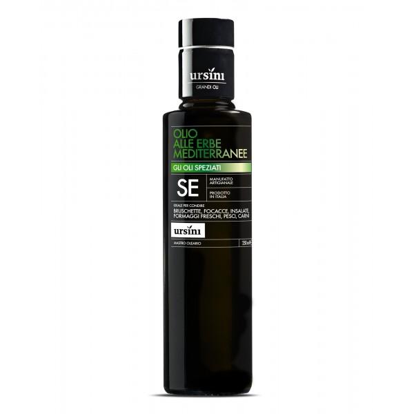 Ursini - Mediterranean Herbs Olive Oil - Spiced Oils - Organic Italian Extra Virgin Olive Oil - 250 ml