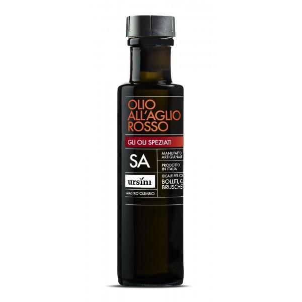 Ursini - Olio all'Aglio Rosso - Oli Speziati - Olio Extravergine di Oliva Italiano - 100 ml