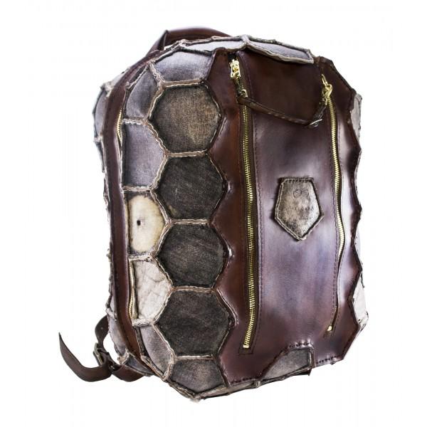 PangaeA - Zaino Vintage - PangaeA Backpack - Zaino Artigianale in Pelle