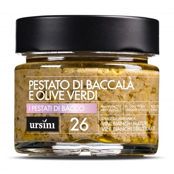 Ursini - Pestato di Baccalà e Olive Verdi - 26 - Pestati di Bacco® - Olio Extravergine di Oliva Italiano