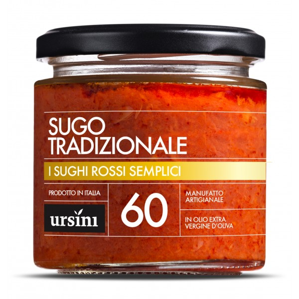 Ursini - Traditional Sauce - 60 - Simple Red - Sauces - Organic Italian Extra Virgin Olive Oil