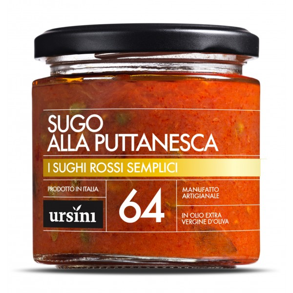 Ursini - Puttanesca Sauce - 64 - Simple Red - Sauces - Organic Italian Extra Virgin Olive Oil