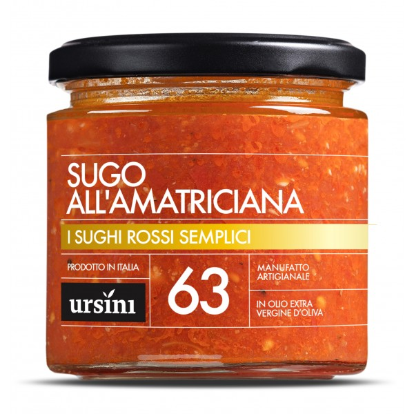 Ursini - Amatriciana Sauce - 63 - Simple Red - Sauces - Organic Italian Extra Virgin Olive Oil