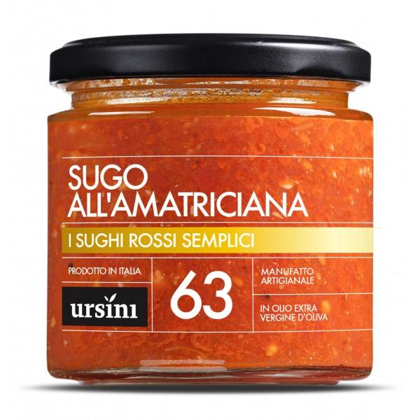 Ursini - Sugo all'Amatriciana - 63 - I Rossi Semplici - Sughi - Olio Extravergine di Oliva Italiano