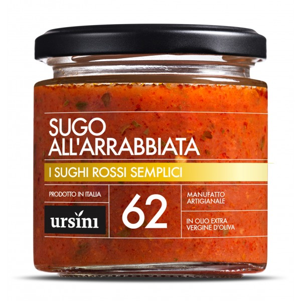 Ursini - Arrabbiata Sauce - 62 - Simple Red - Sauces - Organic Italian Extra Virgin Olive Oil